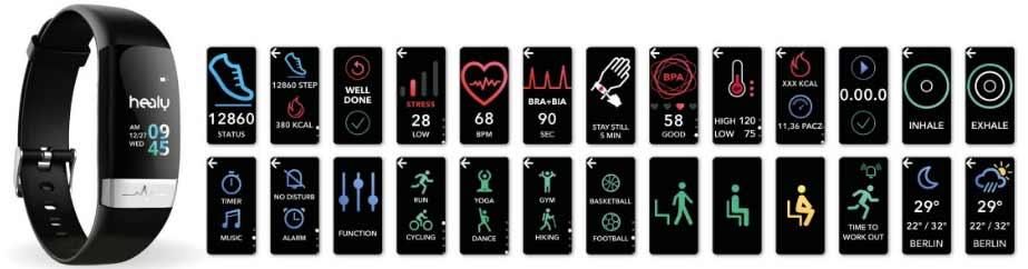 Fonctions portables de style de vie numérique de la montre Healy