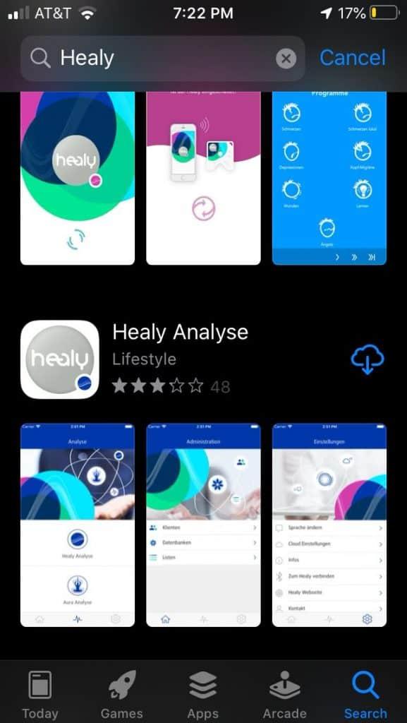 Téléchargez l'application Healy Analyse