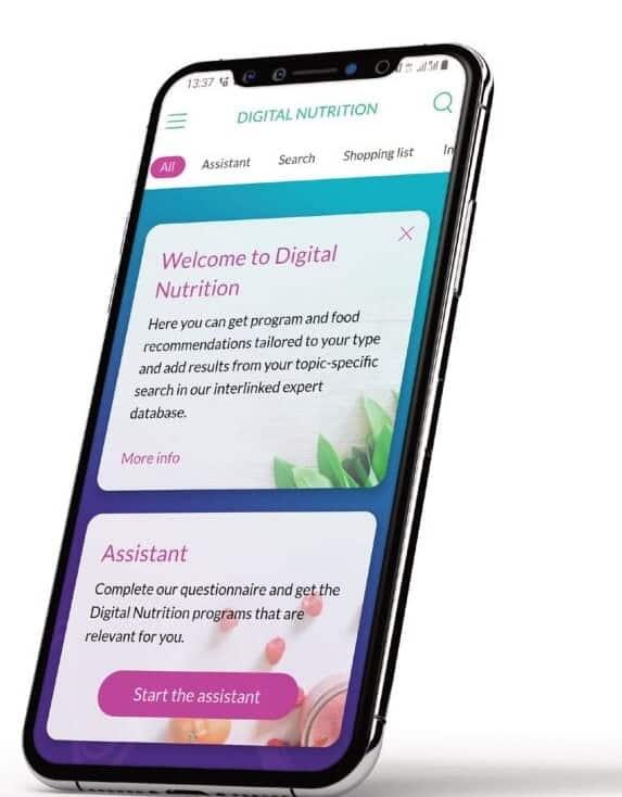 L'application de nutrition digitale (DNA)