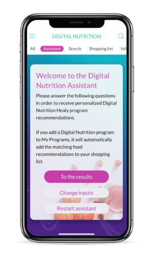 Nutrition digitale application